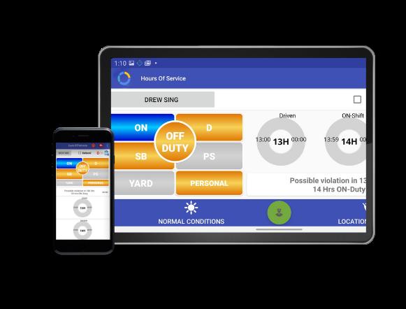 ELD tablet & mobile screen